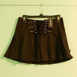 Royals bones gothic lace up mini skirt